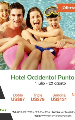 occidental punta cana agosto 2017